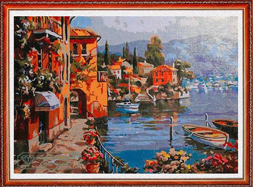 Paesaggio ligure per Diamond Painting Italia