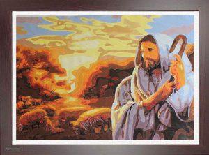 Pittura Gesù e le Pecore per Diamond Painting Italia