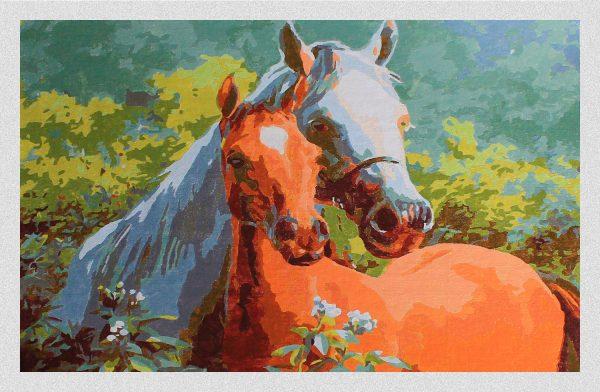 Cavalli in Amore 001 per Diamond Painting Italia