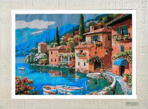 L'antico borgo sul lago per Diamond Painting Italia