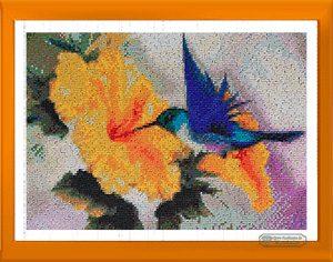 Fiore Uccellino piccolo per Diamond Painting Italia
