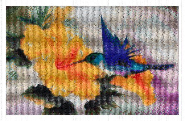 Il fiore dell'uccellino birichino per Diamond Painting Italia