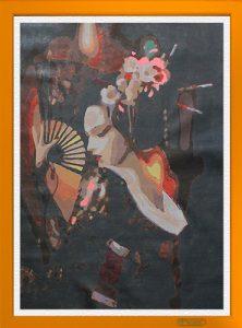 """Esempio de """"La danza sensuale della Geisha"""" per Diamond Painting Italia"""
