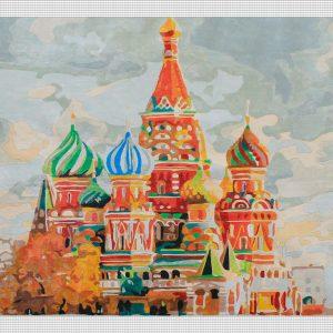 Una mattina di agosto a Mosca per Diamond Painting Italia