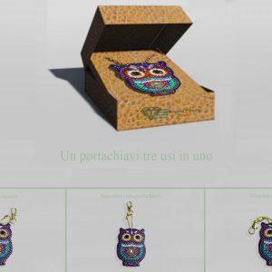 Portachiavi gufo per Diamond Painting Italia
