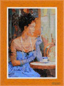 La dame française au bistrot per Diamond Painting Italia