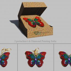 Portachiavi farfalla a sfumatura per Diamond Painting Italia