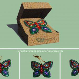 Portachiavi farfalla tricolore per Diamond Painting Italia